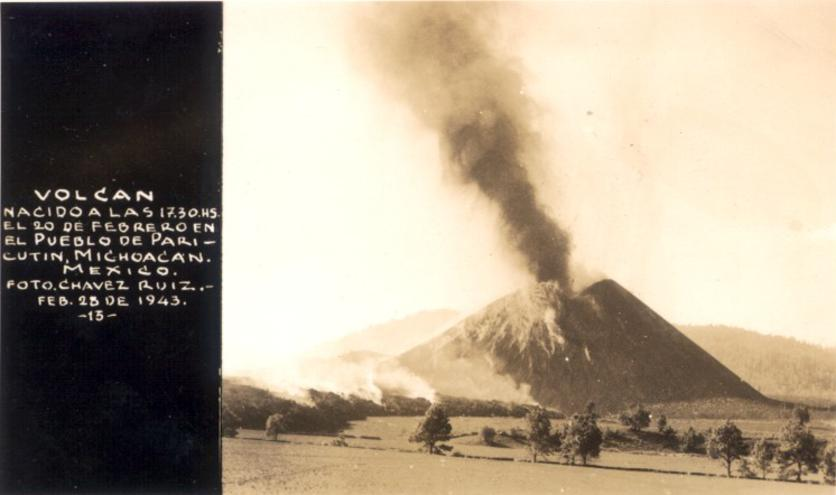 the eruption of paricutin in the mexican volcanic belt